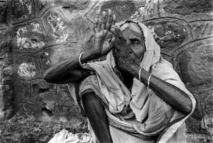 Old Woman,Pune,Portrait,India,gelatin silver print
